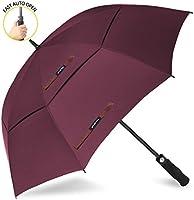 ZOMAKE Automatic Open Golf Umbrella 62/68 inch - Large Rain Umbrella Oversize Windproof Umbrella Double Canopy for Men …