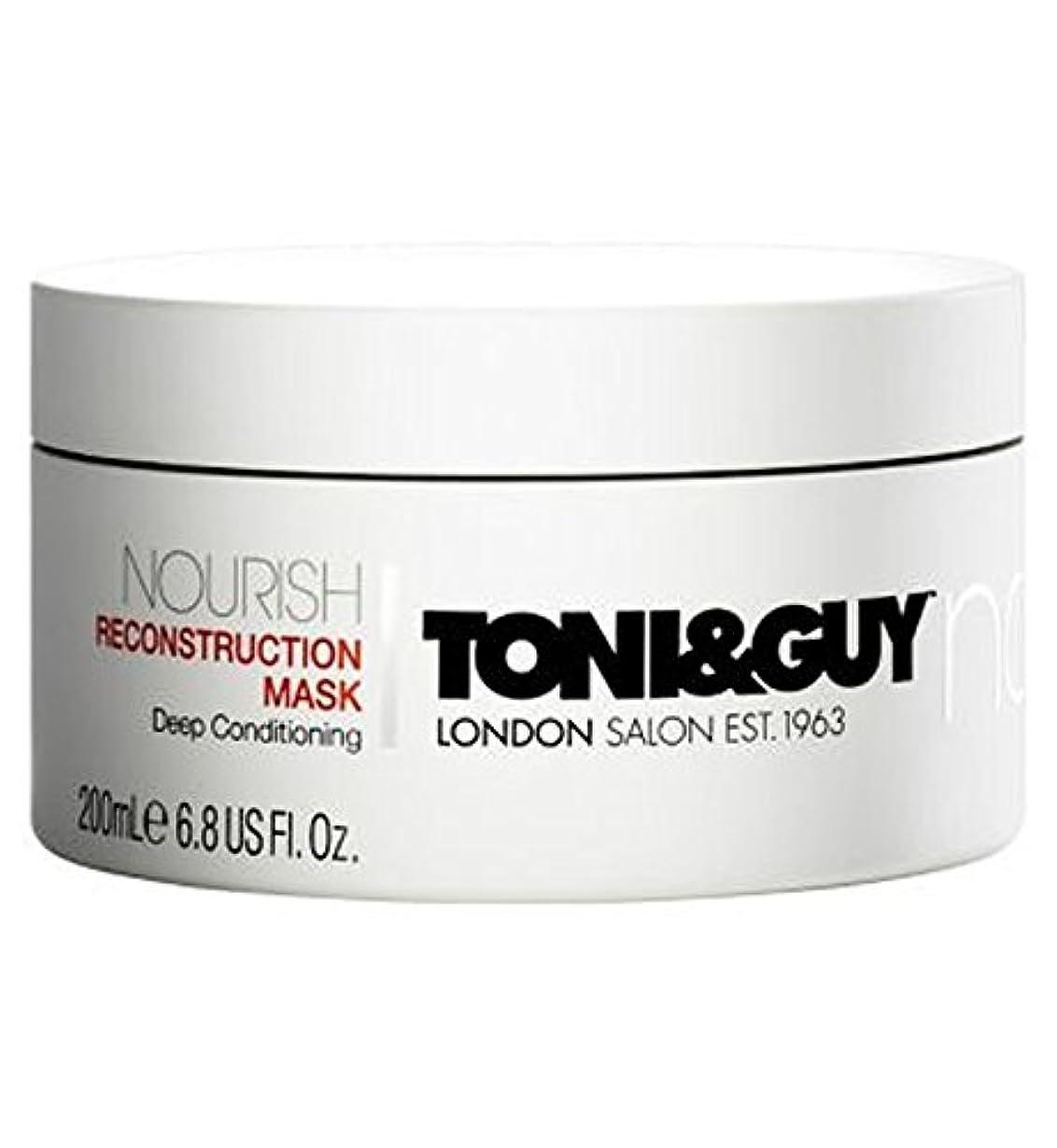 遮る球状ステートメントToni&Guy Nourish Reconstruction Mask 200ml - トニ&男は復興マスク200ミリリットルを養います (Toni & Guy) [並行輸入品]