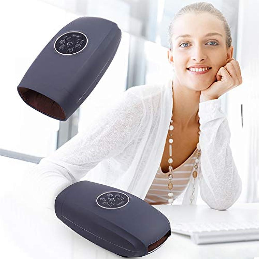 スキニー雷雨木製電気加熱手指圧マッサージ器充電式理学療法マッサージ指美容手健康スパ圧力療法