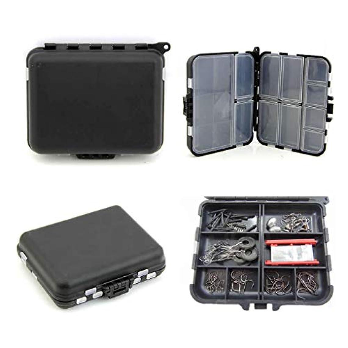 耐える才能のある関係ないAgordo 釣りルアー タックルフック ベイト ブラック 26セル プラスチック収納ボックスケース