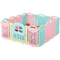 ベビーサークル 赤ちゃんプレイペンポータブル14パネルの安全性再生屋内16パネル子供のゲームのフェンス、100のボール (サイズ さいず : 14 pieces)