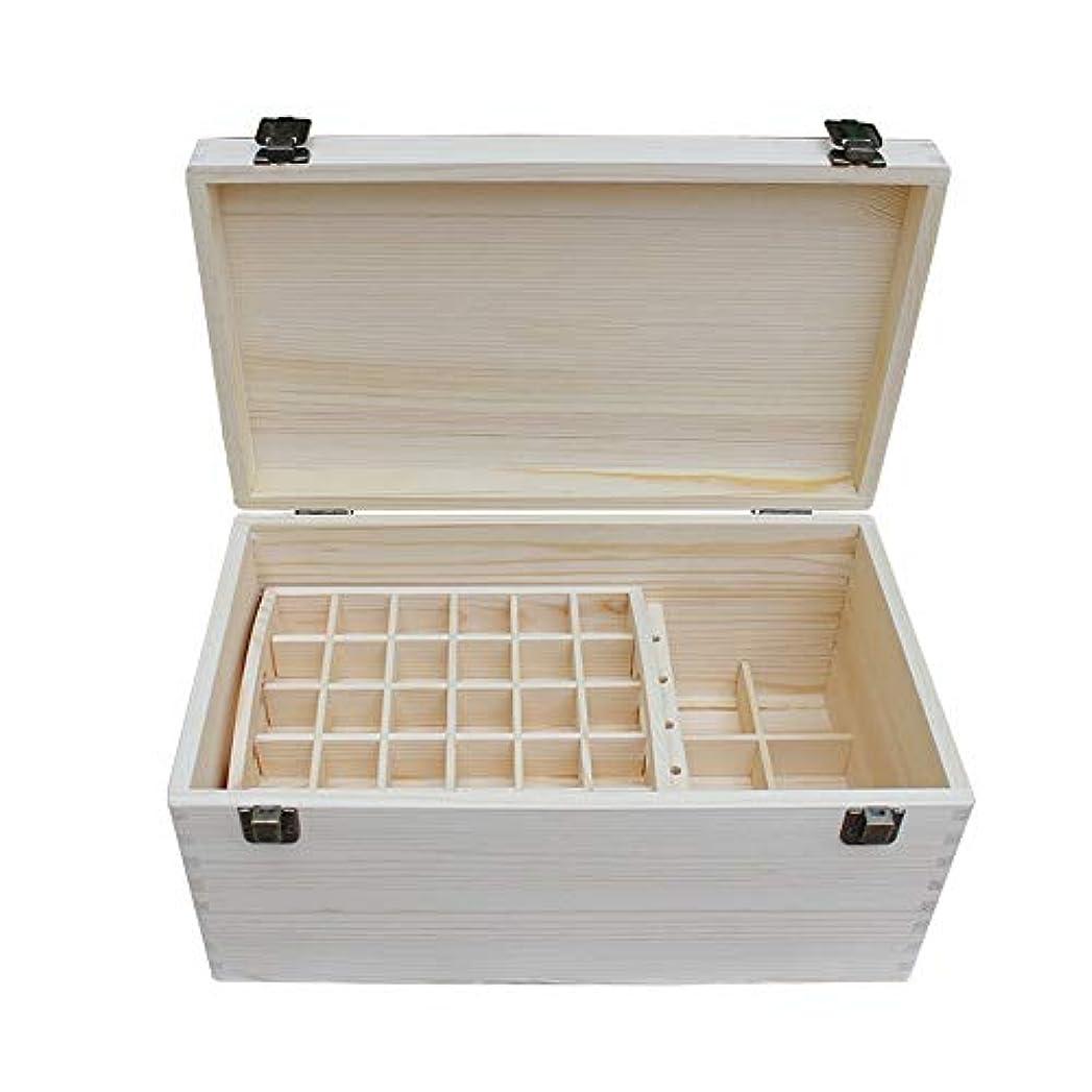 戸惑う壮大なポークアロマセラピー収納ボックス 大型石油貯蔵マルチディスク管理天然精油松ボックスの66本のボトル エッセンシャルオイル収納ボックス (色 : Natural, サイズ : 35.3X20.3X17CM)
