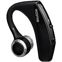【amazon.jp限定】WOOTNB Bluetooth ヘッドセット 通話 V4.1 マイク内蔵 Android Iphone Windows PC スマートフォンに対応 ブルートゥース 完全 ワイヤレス イヤホン ビジネス スポーツ 通勤 通学 片耳 ミニ ハンズフリー (ブラック) (ブラック)