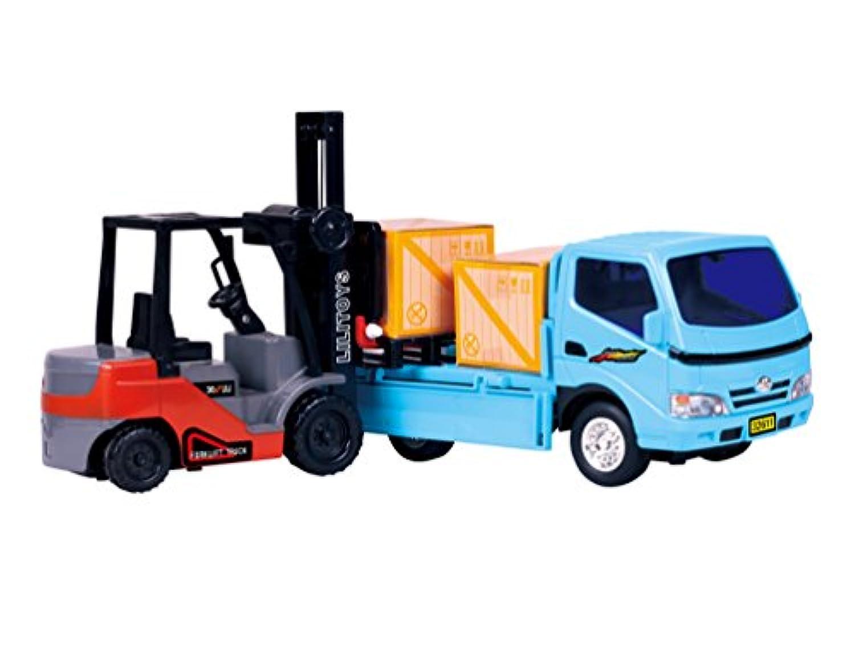 アンパサンドShops Kids Friction Powered Forklift & Truck Play Set Vehicle with 2 cargoボックスプラスPallet