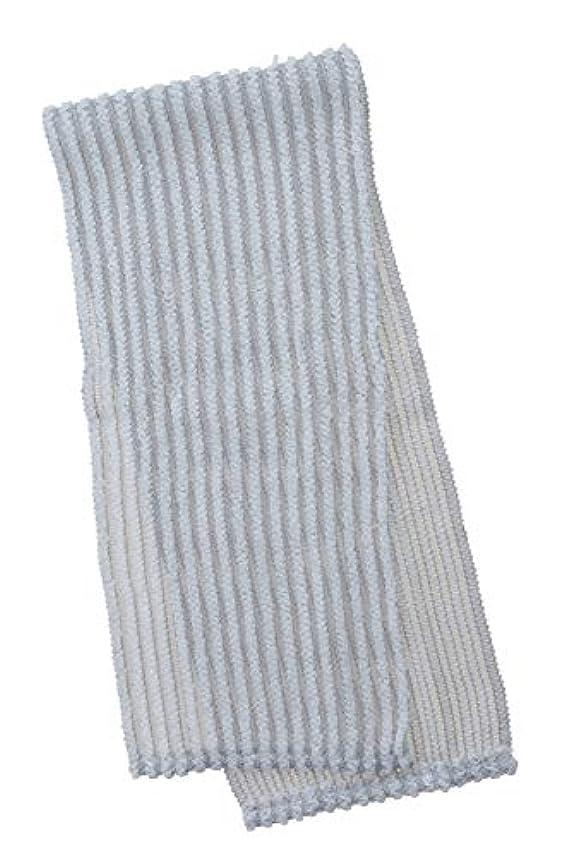 パステル着る物理学者マーナ(MARNA) ボディタオル グレー 18×90 泡工場ボディタオル かため B699GY
