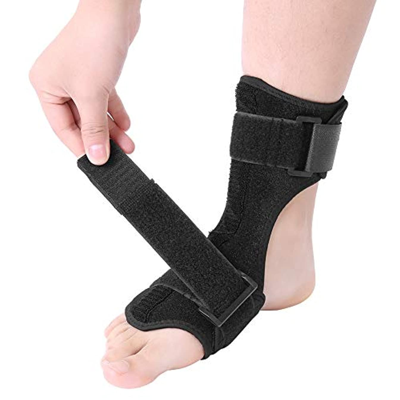 お手伝いさん哀れな感謝祭フットドロップコレクターフットドロップ副木矯正骨折捻挫外傷サポートラップ足首ブレース