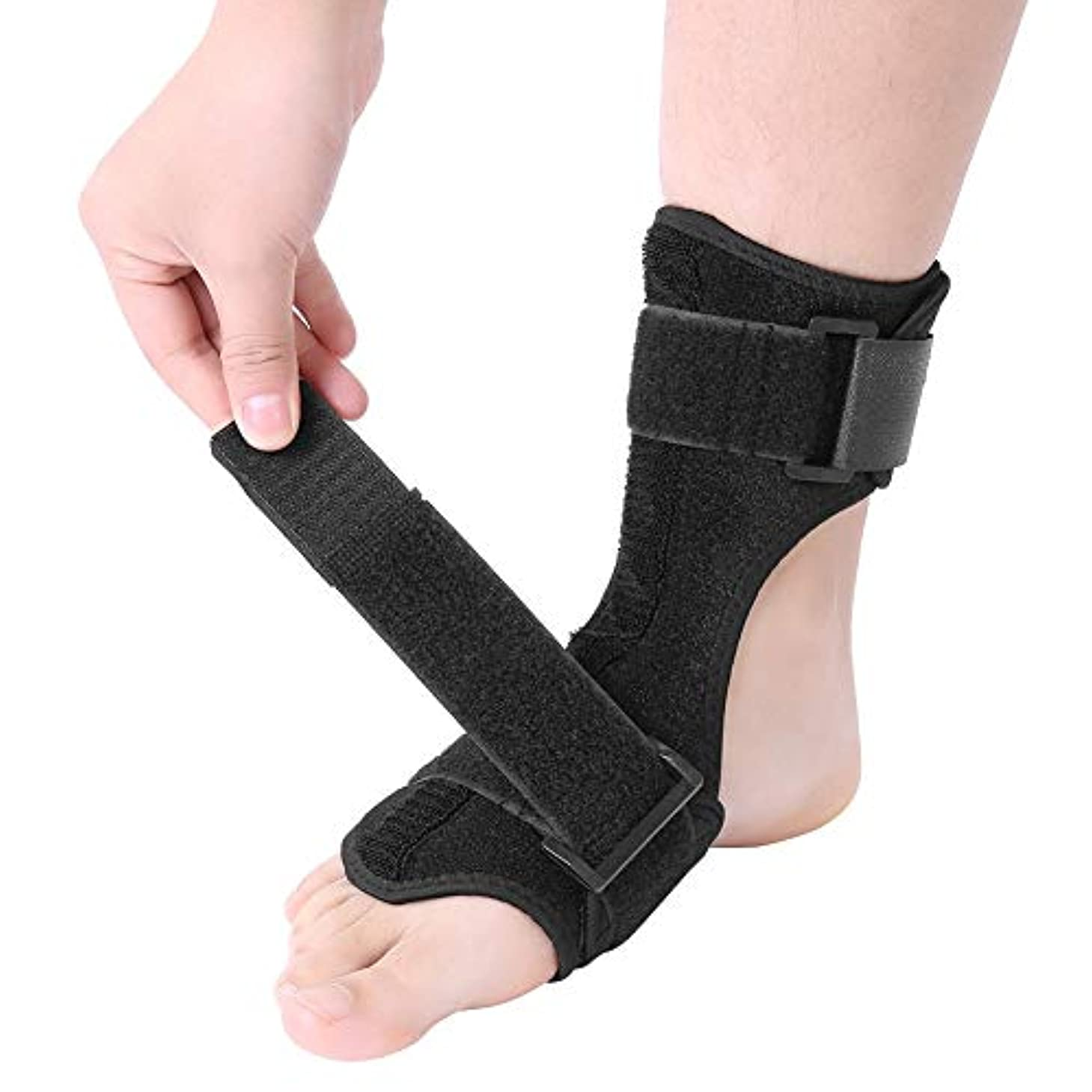 ドレス決して助けになるフットドロップコレクターフットドロップ副木矯正骨折捻挫外傷サポートラップ足首ブレース