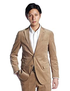 Green Label Relaxing Corduroy 2-button Jacket 3122-116-0195: Beige