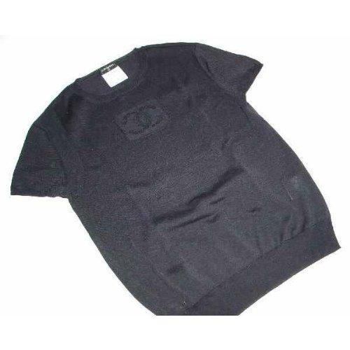 Tシャツ ブラック センターマーク サイズ36 シャネル