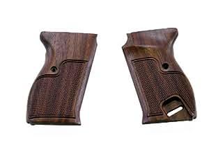 <マルゼン製>ワルサーP38用 コマーシャルタイプ 木製グリップ 茶色(ブラウン)