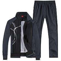 Sillictor スポーツウェア 上下 セット 通気 速乾 UVカット メンズ スポーツ ジャージパーカー + パンツ