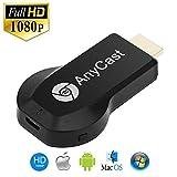 AnyCast ドングルレシーバー HDMIWifiディスプレイ ワイヤレスHDMI MiraScreen ミラーリング HDTV1080P ios Android Windows Mac OS システムに対応 取扱説明書付き