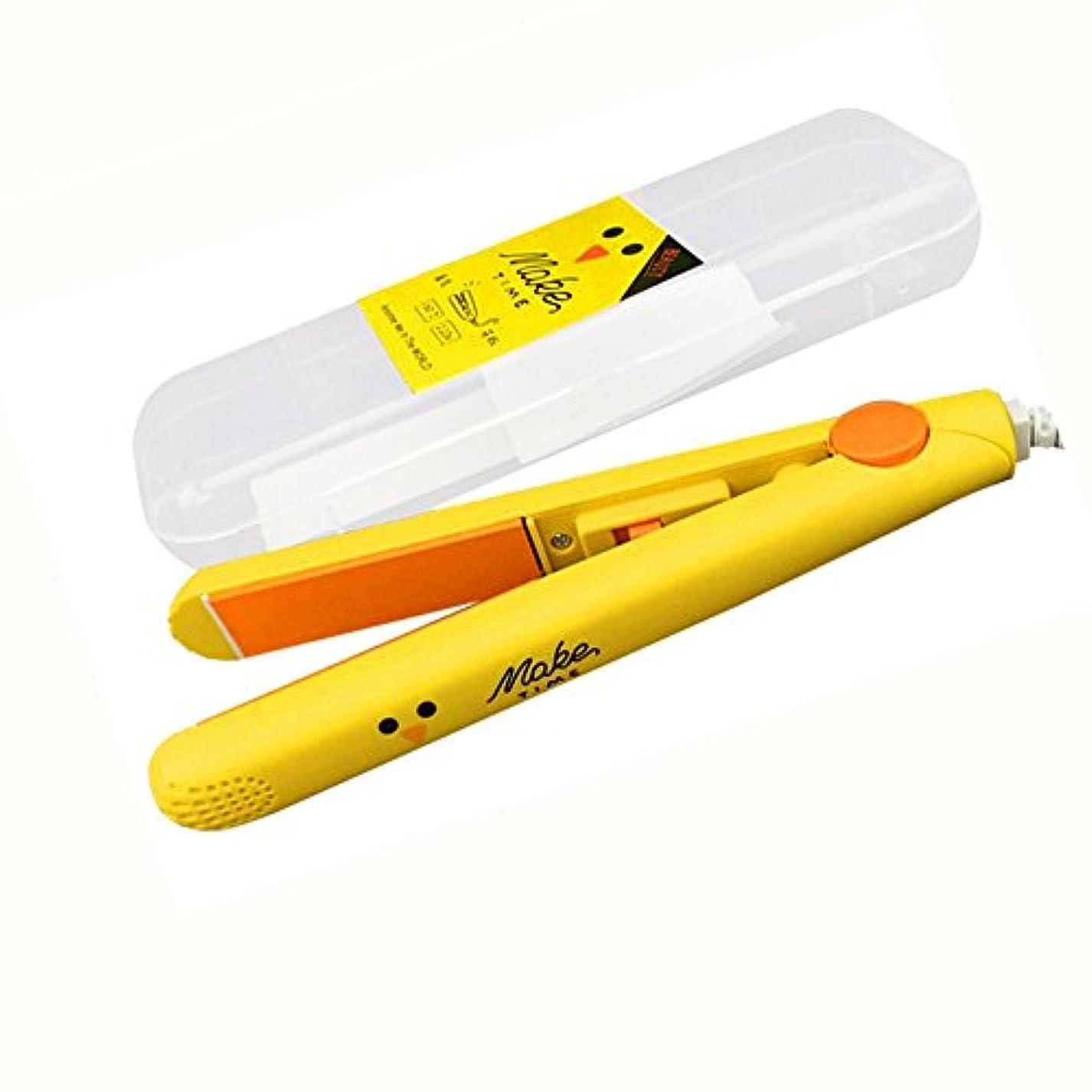 提出するコンチネンタルそれmini ヘアアイロン ストレートアイロン 携帯便利 3カラー (イエロー)