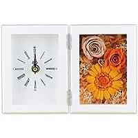 Lulu's プリザーブドフラワー ガーベラフレーム時計 サイズ幅21cm長さ6cm高さ14cm オレンジ Lulu's-0006