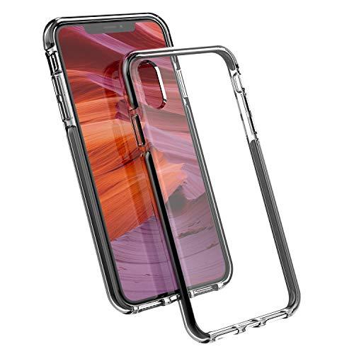 Nimaso N1 iPhoneXS Max 6.5 インチ 専用保護ケース 【二重衝撃吸収】耐衝撃 Qi充電対応 フイルムに干渉せず【ブラック】(iPhone XS Max用)