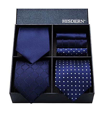 (ヒスデン) HISDERN ビジネス用 ネクタイ 3本セット 結婚式 ネクタイ ハンカチ フォーマル ネクタイ 就活 ...