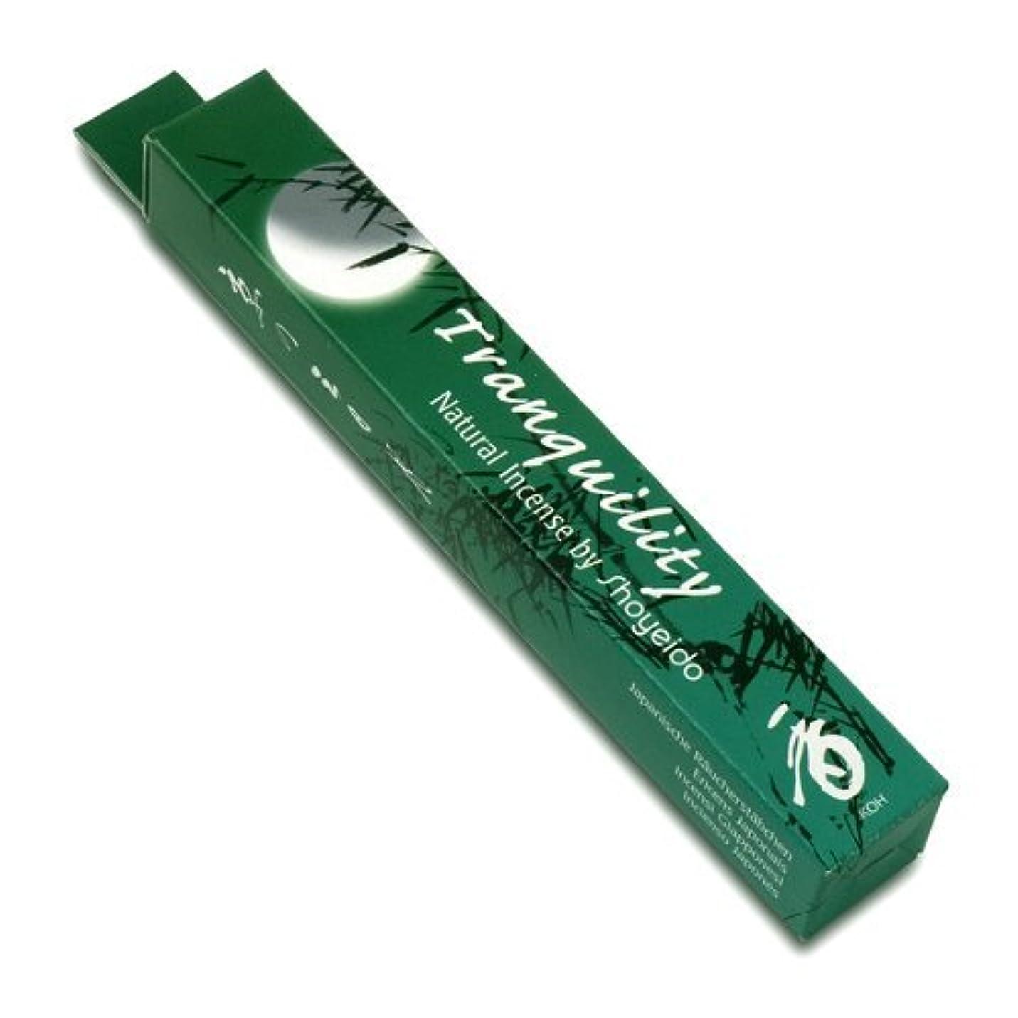 言語息苦しい小競り合いShoyeido's Tranquility Incense 40 sticks - Kyoto Moon Series [並行輸入品]