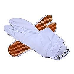 祭り足袋(地下足袋) 白 ゴム底 4(3)枚コハゼ 15~28cm 【お急ぎの場合はプライム、複数の場合は通常便がお得です。】