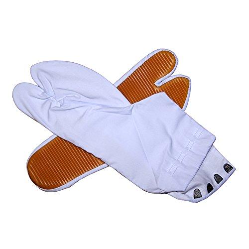 祭り足袋(地下足袋) 白 ゴム底 4(3)枚コハゼ 15〜29cm 【お急ぎの場合はプライム、複数の場合は通常便がお得です。】