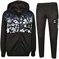 Kids Boys Girls Tracksuit Deluxe Edition Camouflage Gradient Print Jogging Suits