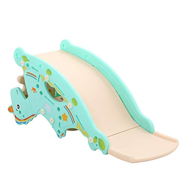 Feemom(フィーマム) 子供用ロッキングホース 多機能 ロッキングチェア 滑り台 輪投げ バスケットネット おもちゃ 1~3歳頃対象 (ブルー)