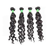 かつらレースフロントロングウェーブ合成耐熱繊維水ウェーブヘアかつら女性のための赤ちゃんの髪,161820inch