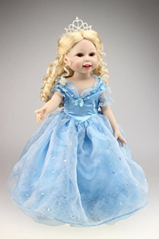 Nicery 人形 Babyラブリーガール玩具人形高ソフビ18インチ45センチメートルリアルな可動プリンセスブルードレススマイル Reborn Dolls JP