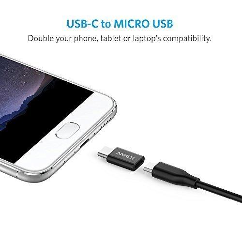 【2個セット】Anker USB-C & Micro USB アダプタ (Micro USB → USB-C変換アダプタ / 56Kレジスタ使用 / Quick Charge対応) 新しいMacBook、ChromeBook Pixel、Nexus 5X、OnePlus 2 他対応 B8174011
