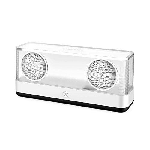 Inateck Crystal Box (20W Bluetooth4.2 スピーカー スタイリッシュデザイン)【Bluetooth4.2/12W*2出力/強化低音/大音量/12時間連続再生】ー ブラック(BP2003)