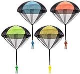 4件の流行する手は落下傘のおもちゃを投げて兵士をまねて落下傘で子供の最優秀プレゼントを下へ跳びます(4種類の色)