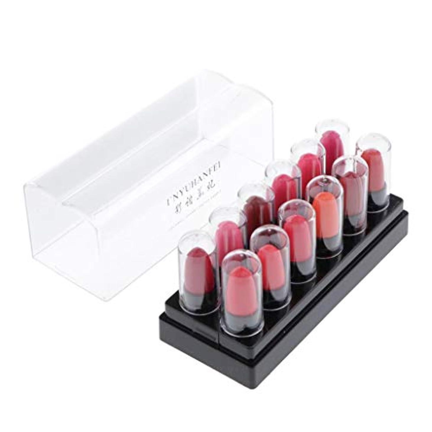 プレゼンター橋十分にPerfeclan 12個の女性防水マットリップスティックセット化粧品リップグロスロングラスティング