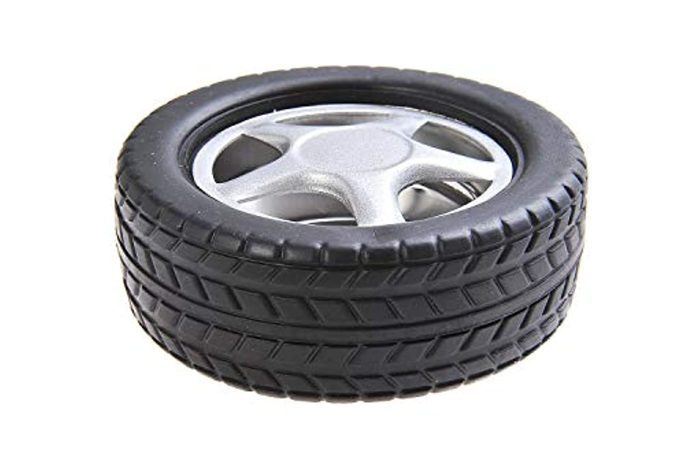 リビジョン見捨てられたプラットフォームステンレススチールとプラスチック製の車のタイヤの形状で量子そろばんラウンド灰皿、