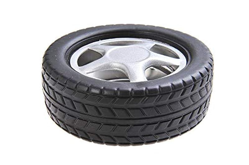 呼ぶ合併意外ステンレススチールとプラスチック製の車のタイヤの形状で量子そろばんラウンド灰皿、