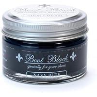 COLUMBUS ブートブラック シュークリーム(ツヤ革靴専用 ビン入り乳化性クリーム) 17448 ネイビーブルー