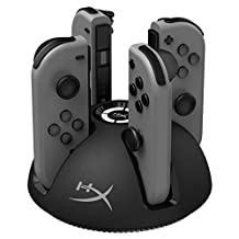 HyperX ChargePlay Quad - Joy-Con Charging Station for Nintendo Switch with LED Indicators, Pokemon, Eevee, Pikachu, Mario Party, Super Mario Odyssey, SuperSmash Bros, Labo, Zelda, Splatoon (HX-CPQD-U)