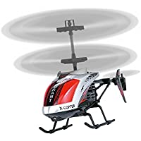 AMOSTING RC Helicopter Crash Resistant 3.5 Channels with Gyro and LED Light for Indoor Outdoor Ready to Fly - Color