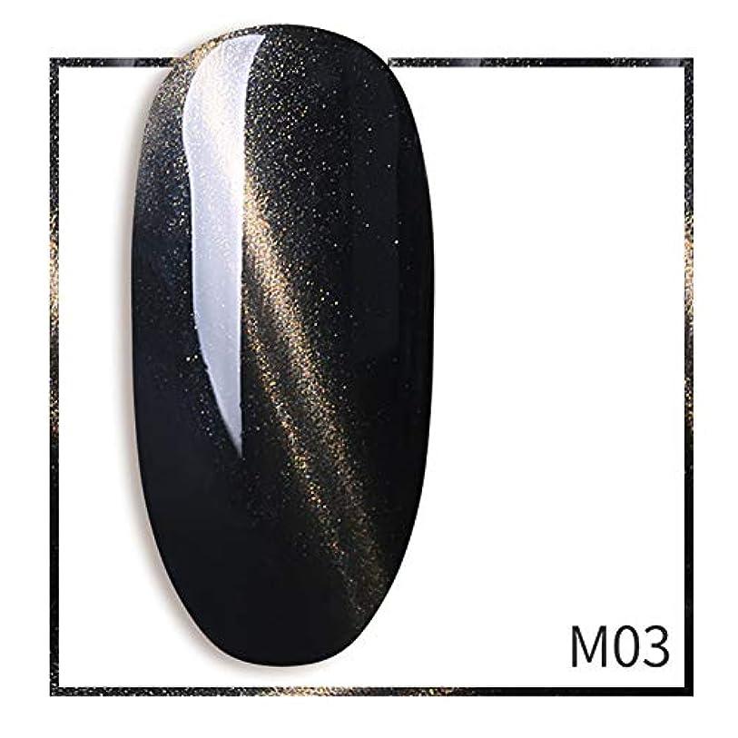 意外資源ミットACHICOO ネイルジェル 7ml グリッター キャットアイ ポリッシュジェル きらきら ネイルアート サロン ブラック-M03