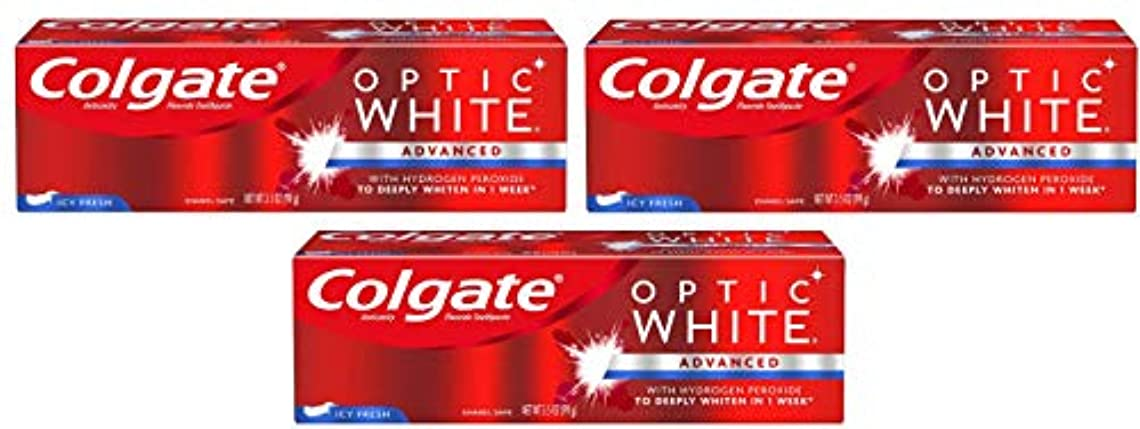 ラッシュ危険を冒します利得Colgate Optic White Icy Fresh by Colgate Optic White