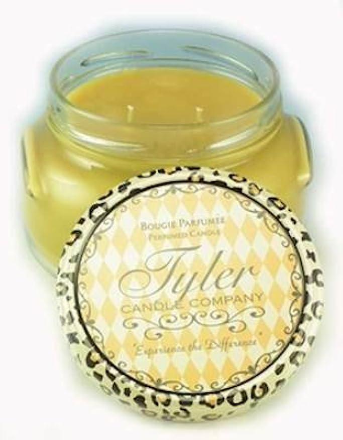 売り手バブルズームインするConnoisseur Tyler 11 oz Medium香りつき2-wick Jar Candle