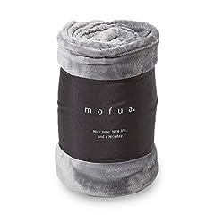 mofua(モフア) 毛布 シングル オールシーズン快適 エアコン対策 マイクロファイバー 1年間品質保証 洗える 140×200cm グレー 50000113