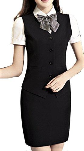 【SWEET ROSE】リアル コスチューム OL 半袖シャツ リボン付き 事務員 コスプレ衣裳セット