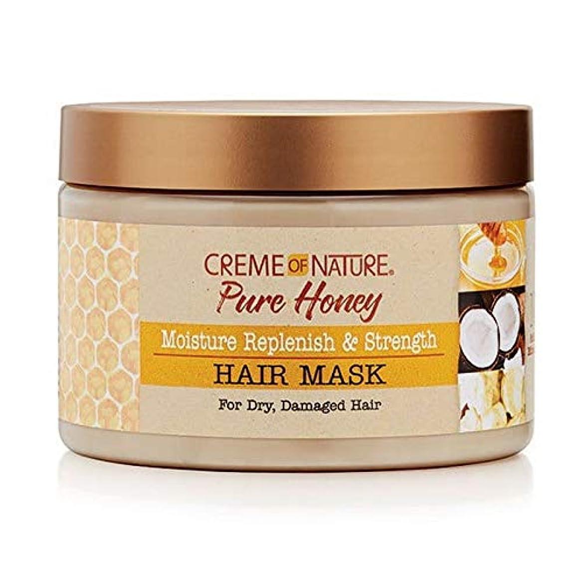 マオリ転用こっそり[Creme of Nature ] 自然の純粋な蜂蜜のクリーム補充&ヘアマスクを強化 - Creme of Nature Pure Honey Replenish & Strengthen Hair Mask [並行輸入品]