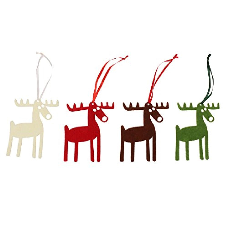 Dovewill トナカイデザイン クリスマス ハンギング オーナメント クリスマスツリー 吊り飾り 贈り物タグ 4個/セット