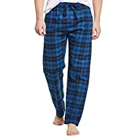CYZ Men's 100% Cotton Super Soft Flannel Plaid Pajama Pants, Blue Plaid, Mens Size: X-Large