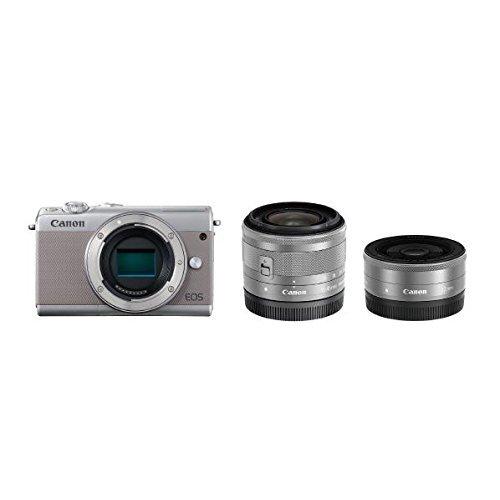 Canon ミラーレス一眼カメラ EOS M100 ダブルレンズキット (グレー) EOSM100GY-WLK