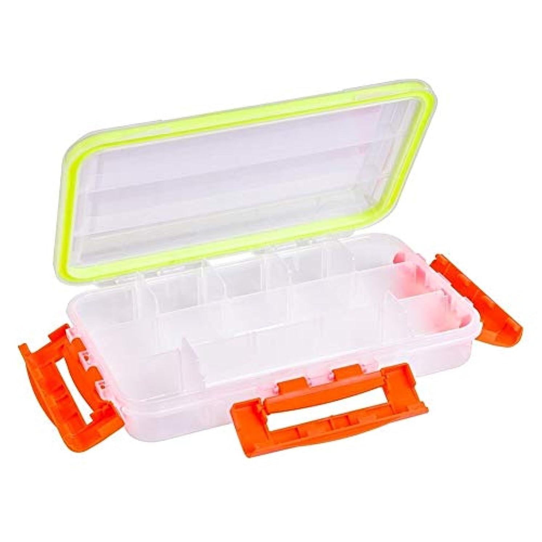 爬虫類社交的インゲン釣りボックスバッグ透明可視クリアルアーボックス釣りベイトフックアクセサリー収納ボックスケースコンテナタックル 多機能釣りバッグ フィッシングボックス ギアバックパギアバックパックは、ボックス収納ショルダーバッグ (Color : S)