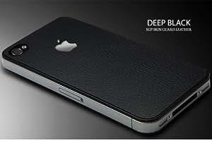 SPIGEN SGP アイフォン 4 / 4S スキンガード 【 ディープ・ブラック 】 液晶保護シートセット for iPhone 4 / 4S