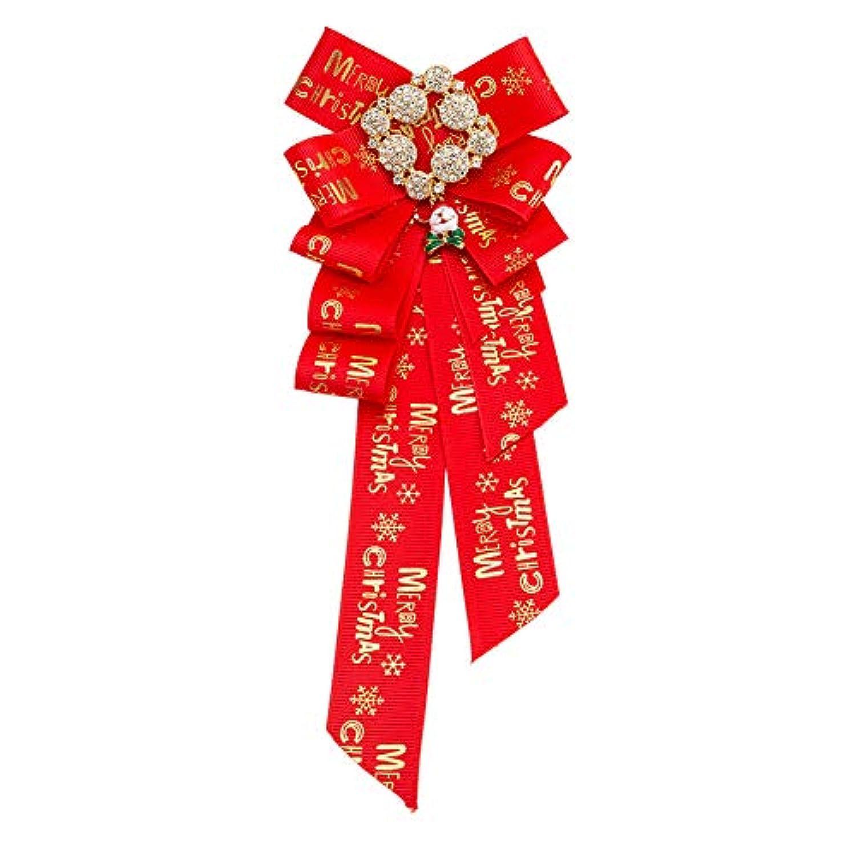 Vi.yo クリスマスボウタイブローチ 蝶結び ファッション 特別 レディースの衣装飾り 贈り物 レッド