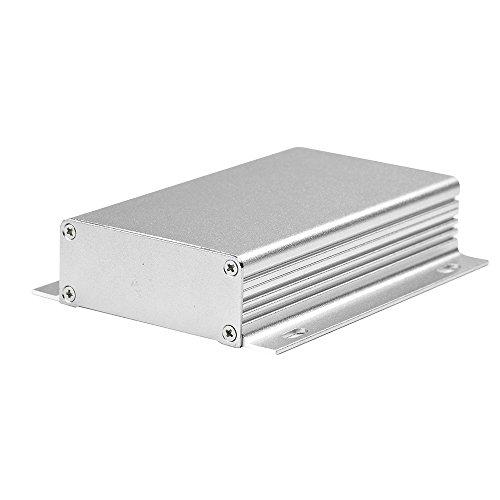 """Eightwoodアルミニウム電子PCBプロジェクトボックスエンクロージャケースDIY–4.33"""" × 6.2"""" X 0.98"""" ( lengthwidthheight )、滑らかなTopストライプwith fixingポイントフランジボックス"""