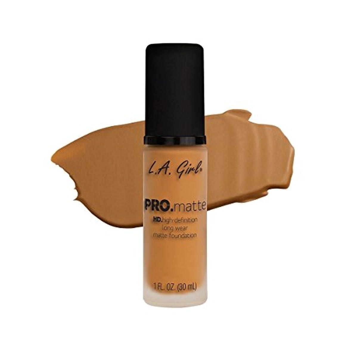 パッド降下公(3 Pack) L.A. GIRL Pro Matte Foundation - Golden Bronze (並行輸入品)